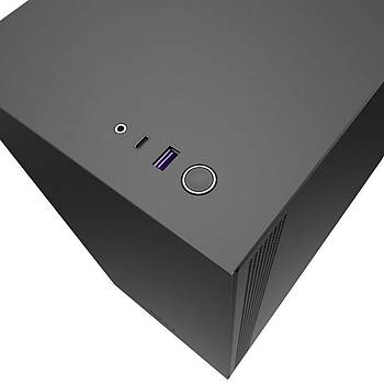 NZXT CA-H510B-B1 H510 Compact Mid Tower Black/Black Chassis with 2x 120mm Aer F Case Fans