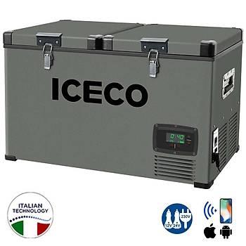 ICECO YCD90 12/24Volt 220Volt 90 Litre Çift Bölmeli Outdoor Kompresörlü Oto Buzdolabý/Dondurucu