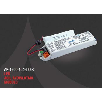 AK-4600S-3 LED Lambalar Ýçin Acil Durum Yedekleme Kiti Kesintide 180 Dak. Yanan 3,5-70 Volt Led Lamba
