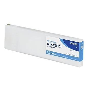 Epson ColorWorks C7500G Orijinal Kartuþ Cyan - SJIC30P(C) C33S020640