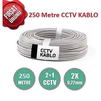 CCTV 250mt 2X0.22 Folyolu Kamera Kablosu