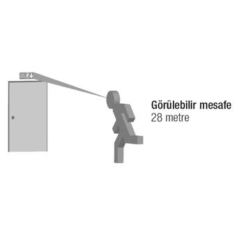 Dekolite Z Serisi Çift Yüzlü AE-3223-L Acil Çýkýþ Yönlendirme Armatürü Kombine Sürekli ve Kesintide 180 Dak. Yanan 500 Lümen Led