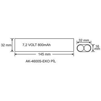 AK-4600S-1EKO LED Lambalar Ýçin Acil Durum Yedekleme Kiti Kesintide 60 Dak. Yanan 3,5-70 Volt Led Lamba