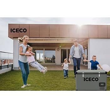 ICECO YCD99 12/24Volt 220Volt 99 Litre Tek Bölmeli Outdoor Kompresörlü Oto Buzdolabý/Dondurucu