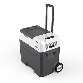 Acopower X50A 12/24/220Volt Akülü/Kablolu 50Litre Kompresörlü Outdoor Oto Buzdolabý
