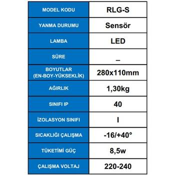 Desa RLG-S Sensörlü Acil Aydýnlatma Armatürü