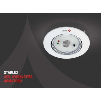 Starlux STA-103 Sýva Altý Acil Aydýnlatma Armatürü Kesintide 180 Dak.