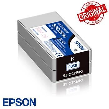 Epson TM-C3500 Kartuþ - Black (SJIC22P - K) C33S020601