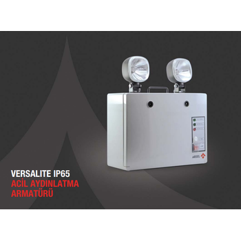 Versalite IP-65 VSP-2351 Acil Aydýnlatma Armatürü Kesintide 60 Dak. Yanan 2x35 watt