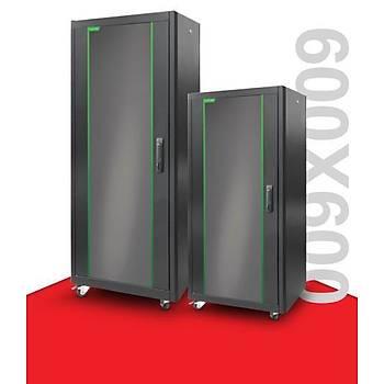 Legend 32U Eco 19 INC Dikili Tip Rack Kabinet W=600 D=600 Siyah