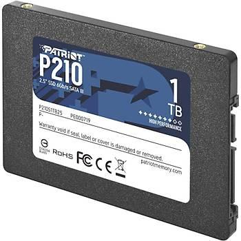 PATRIOT P210S1TB25 1TB P210 Sata 3.0 520-430MB/s 7mm 2.5