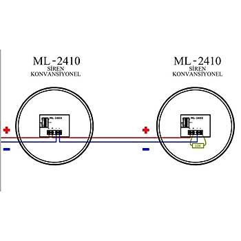 Mavigard ML-2410 24V DC Konvansiyonel Kýrmýzý Elektronik Siren