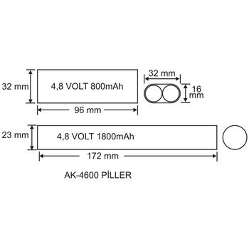AK-4600S-1 LED Lambalar Ýçin Acil Durum Yedekleme Kiti Kesintide 60 Dak. Yanan 3,5-70 Volt Led Lamba