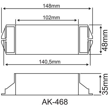 AK-468-1 Fluoresan Ampuller Ýçin Acil Aydýnlatma Kiti Kesintide 60 Dak. Yanan 6-8W T5 Fluoresan