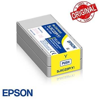 Epson TM-C3500 Orjinal Kartuþ  Yellow (SJIC22P - Y) C33S020604
