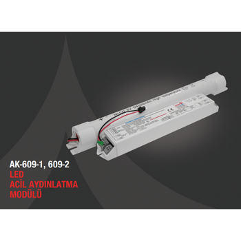 AK-609W-2 LED Lambalar Ýçin Acil Aydýnlatma Kiti Kesintide 120 Dak. Yanan 110-220 volt AC led lamba