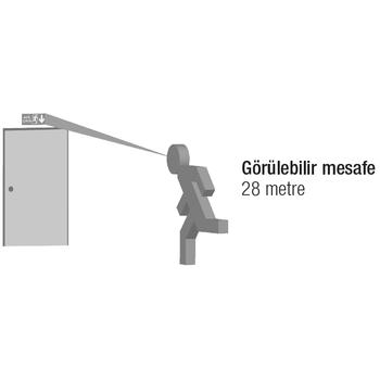Starlite AE-01212 Acil Çýkýþ Yönlendirme Armatürü Kombine Sürekli ve Kesintide 120 Dak. Yanan 2x8 Watt