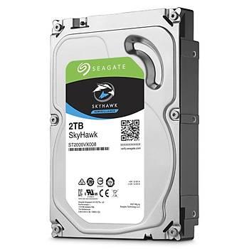 SEAGATE ST2000VX008 2TB SkyHawk Sata 3.0 5900RPM 64MB 3.5'' Dahili Güvenlik Diski