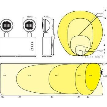 Arsel Versalite LED VSL218/1 Acil Aydýnlatma Armatürü Kesintide 60 Dak. Yanan 2X750 Lümen