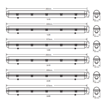 Royalite AE-85112 Acil Aydýnlatma Armatürü Kesintide 120 Dak. 58 Watt