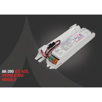 AK-390-1 LED Lambalar Ýçin Acil Durum Yedekleme Kiti Kesintide 60 Dak. Yanan 50-90 Volt
