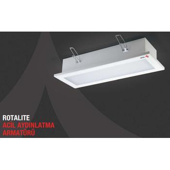 Rotalite AE-9213-L Acil Aydýnlatma Armatürü Sürekli ve Kesintide 180 Dak. Yanan 1000 Lümen Led