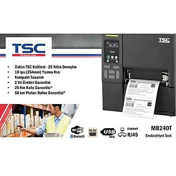 TSC MB240T Endüstriyel Barkod Etiket Yazýcý