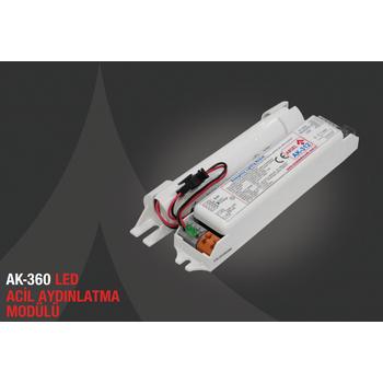 AK-360-1 LED Lambalar Ýçin Acil Durum Yedekleme Kiti Kesintide 60 Dak. Yanan 3-50 Volt