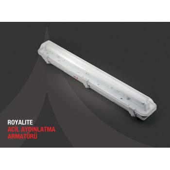 Royalite AE-83221 Acil Aydýnlatma Armatürü Kombine Sürekli Kesintide 60 Dak. Yanan 2X36 Watt