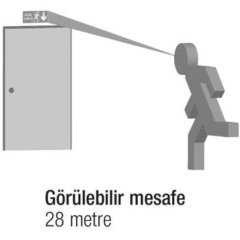 Arselite Eko AE-2020 Sýva Altý Acil Çýkýþ Yönlendirme Armatürü Þebekeden Yanan 19 LED