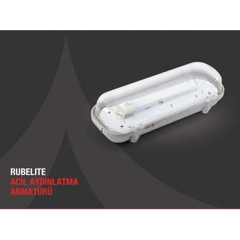 Rubelite AE-0213 Acil Aydýnlatma Armatürü Sürekli ve Kesintisinde 180 Dak. Yanan 11 Watt