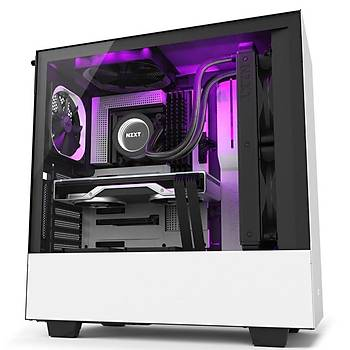NZXT CA-H510I-W1 H510i Compact Mid Tower White/Black Chassis with Smart Device 2? 2x