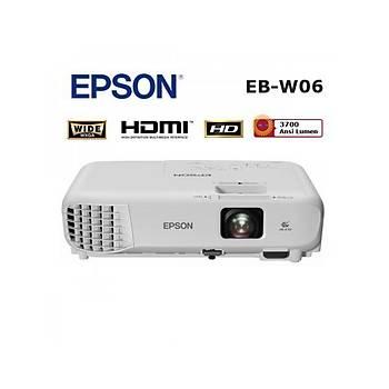 Epson EB-W06 V11H973040 3700 Lümen 1280x800 Çözünürlüklü Projeksiyon Cihazý
