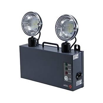 Arsel Versalite LED VSL226/3 Acil Aydýnlatma Armatürü Kesintide 180 Dak. Yanan 2x1000 Lümen