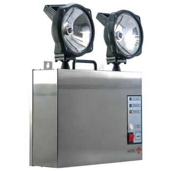 Versalite Inox VSI-2201Acil Aydýnlatma Armatürü Kesintide 60Dak. Yanan 2x20 Watt