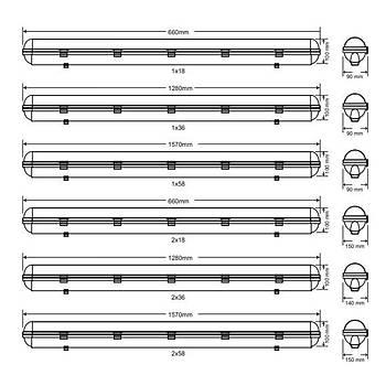 Arsel Royalite AE-81223 Acil Aydýnlatma Armatürü Kombine Sürekli Kesintide 180 Dak. 2x18 Watt