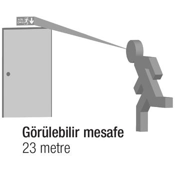 Betalite AEB-3210-L Acil Çýkýþ Yönlendirme Armatürü Þebekeden Yanan 500 Lümen