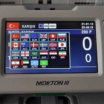 Kisan Newton 3-V Premium Çift Katlý Çift Cýslý, Para Sayma Makinesi