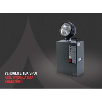 Versalite VS-1502 Tek Spot Acil Aydýnlatma Armatürü Kesintisinde 120 Dak. Yanan 50 Watt