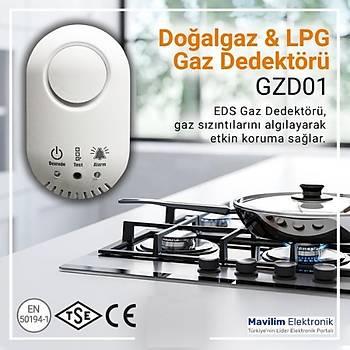 GZD01 Dogalgaz ve LPG Gaz Dedektörü (12V) Ýgdaþ ve Gazmer Onaylý