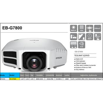 Epson EB-G7800 / V11H753040 Profesyonel Projeksiyon Cihazı