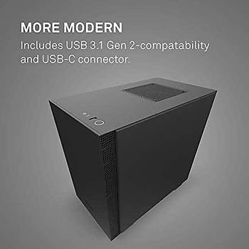 NZXT CA-H210B-B1 New features: Front I/O USB Type-C Port and Tempered glass side panel