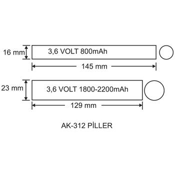 AK-3200-1 LED Lambalar Ýçin Acil Durum Yedekleme Kiti Kesintide 60 Dak. Yanan 90-200 Volt