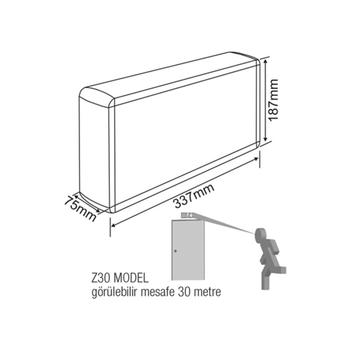 Dekolite Z Serisi AE-5213-L Sac Kasa Acil Çýkýþ Yönlendirme Armatürü Sürekli ve Kesintide 180 Dak. Yanan 1000 Lümen LED