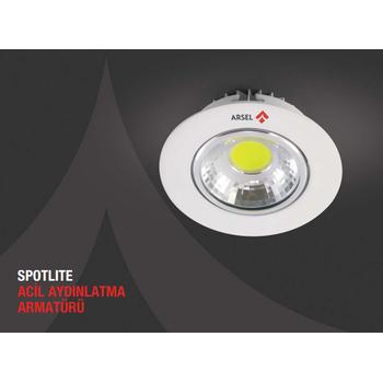 Spotlite SP-301-5 Acil Aydýnlatma Armatürü Kesintide 60 Dak. Yanan 5W LED