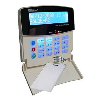 Electrosec DAP-06KPLR Kart Okuyuculu Alarm Keypad