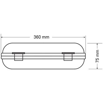 Rubelite AE-0111 Acil Aydýnlatma Armatürü Kesintisinde 60 Dak. Yanan 11 Watt
