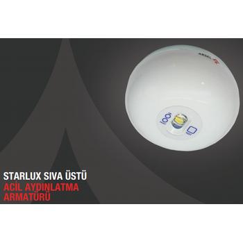 Starlux STU-103 Sýva Üstü Acil Aydýnlatma Armatürü Kesintide 180 Dak. Yanan