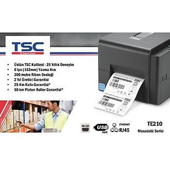 TSC TE210 Termal Transfer Barkod Etiket Yazýcý