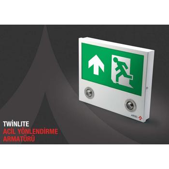 Twinlite TW-112 Acil Çýkýþ Yönlendirme Armatürü Kesintide 120 Dak. Yanan 8 Wat+ LED